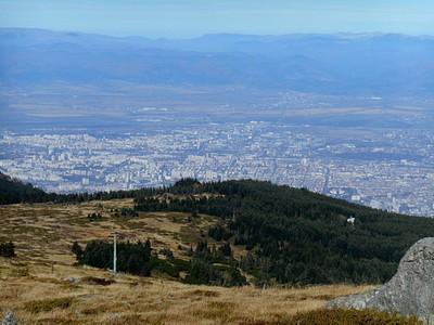 העיר סופיה כפי שנראית מהרי ויטושה